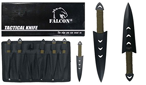 "Falcon Throwing knife set 6"" with sheath (6 Pcs)"