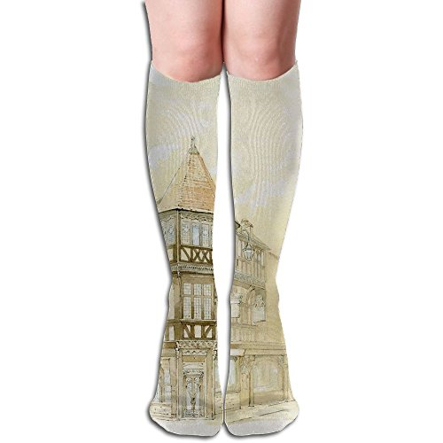 Coffee Shop In Street Conor Lady Tube Stockings Stylish Slim Stockings For Sports Crew - In Towers Shops Castle