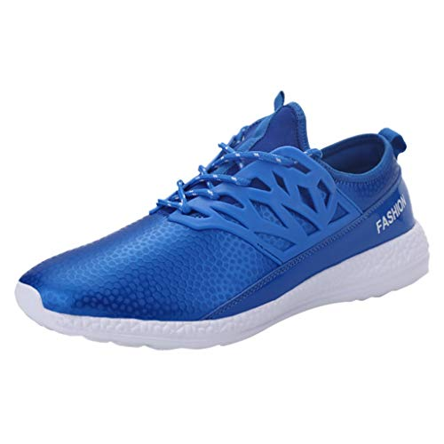 iHPH7 Shoe Authentic Original Vintage Solid Fashion Shoes Outdoor Shoes Summer New Leather Sports Shoes Casual Men (41,Blue)