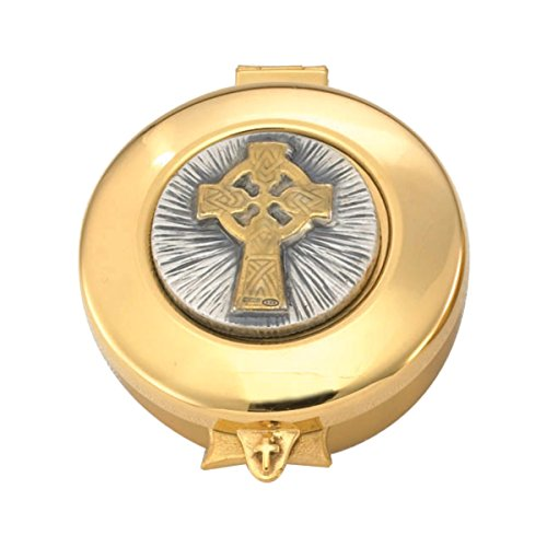 - Pyx with gold/silver Celtic Cross raised on lid