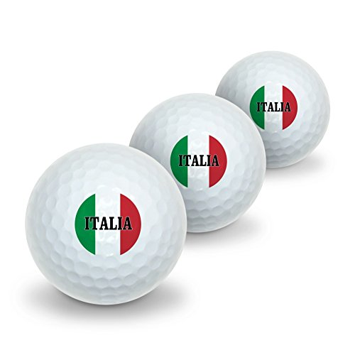 Italia Italy Italian Flag Novelty Golf Balls 3 Pack by Graphics and More