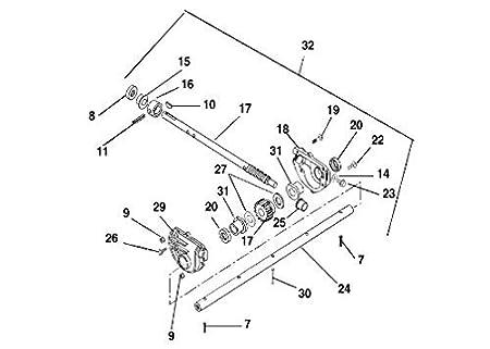 Amazon Com Mowerpartsgroup 28 Oem Ariens Gravely Cast Iron Gear