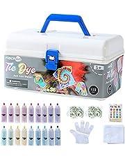 FiBERArt Tie Dye Kit Set Creative Art Craft Tie-Dye Kits Games Activity for Adults & Kids,Easy & Fun
