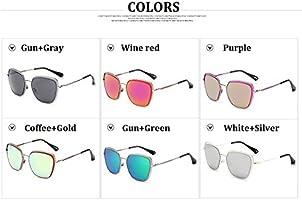 Tocoss (TM aleación Mariposa Oro Rosa Gafas de Sol Mujeres ...