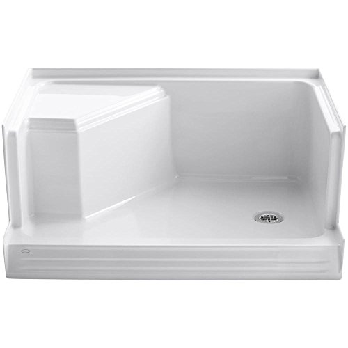 Pans Kohler Shower (KOHLER K-9488-0 Memoirs 48-Inch Shower Receptor, White)