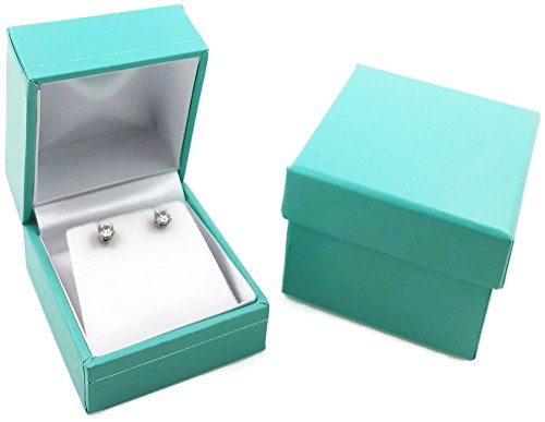 888 Display Ultra Elegant Teal Blue Jewelry Box - Rings / Necklace / Bracelet / Earring (1, 1 3/4
