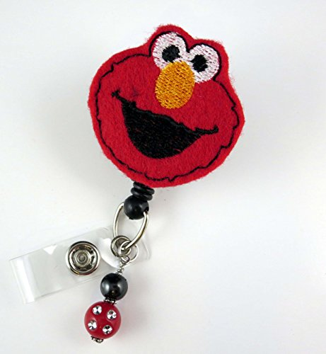 Elmo -Nurse Badge Reel - Retractable ID Badge Holder - Nurse Badge - Badge Clip - Badge Reels - Pediatric - RN - Name Badge Holder