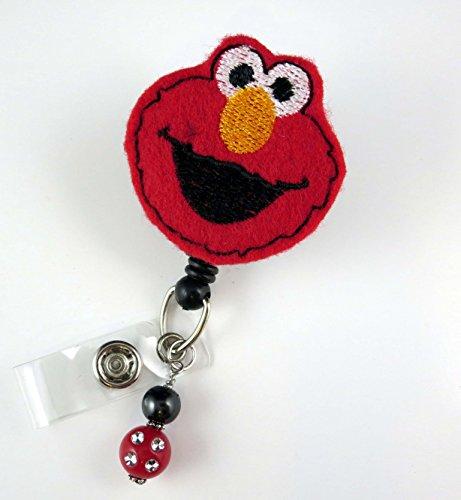 Elmo -Nurse Badge Reel - Retractable ID Badge Holder - Nurse Badge - Badge Clip - Badge Reels - Pediatric - RN - Name Badge Holder