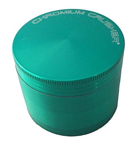 "Chromium Crusher 2.5"" Zinc 4 Piece Tobacco Spice Herb Grinde"
