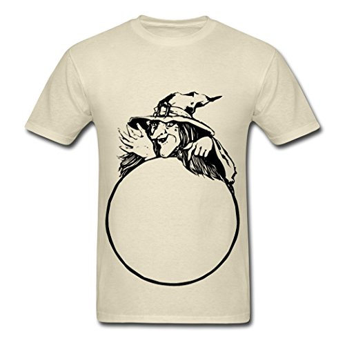 OneceMore Witch With Crystal Ball mens tee shirt 2016 new style L