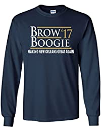"""LONG SLEEVE Navy New Orleans """"Brow Boogie 17"""" T-Shirt"""