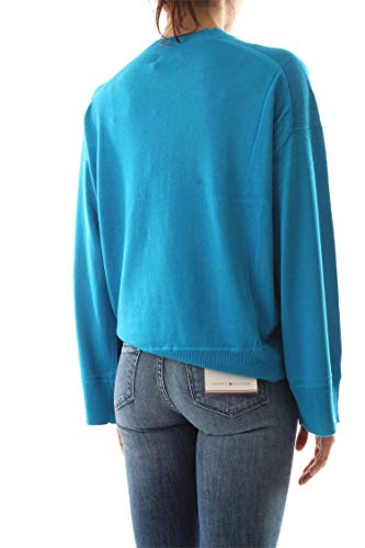 Bleu Pull Clair C Femme Calvin Klein K20k200566 neck FHBxwy7Ycq