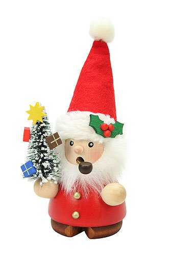 German Incense Smoker Santa Claus - 14cm / 6 inch - Christian Ulbricht by Authentic German Erzgebirge Handcraft