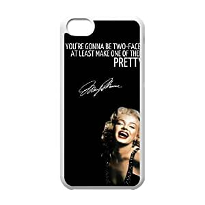 Customized Cover Case with Hard Shell Protection for Iphone 5C case with Marilyn Monroe Quote lxa#902786