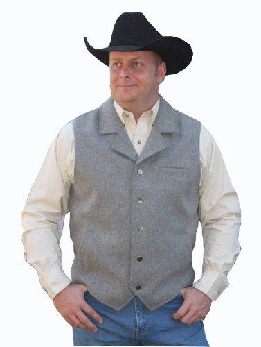 Walls Mens Western Heavy Weight Wyoming Wool Vest Light Grey XL