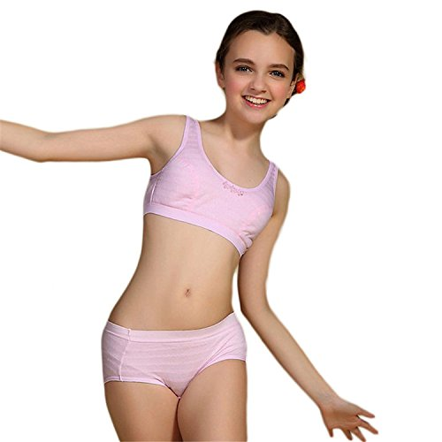 2a262c5d10 MANJIAMEI Puberty Girl Underwear Set Teenage Cotton Underwear For Young Girl   Amazon.co.uk  Clothing