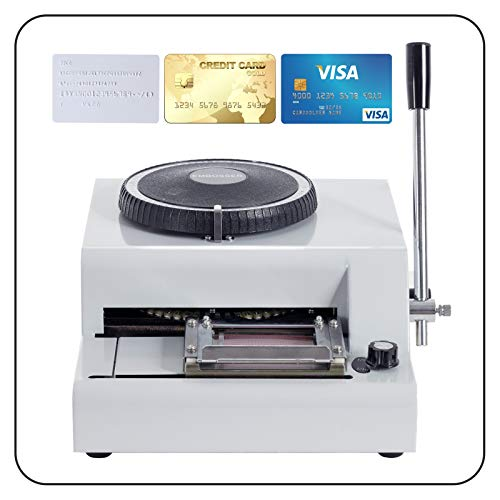 SUNCOO Embossing Machine Letter Manual Card Embosser Stamping PVC Machine 72 Character Credit Card Embossing by SUNCOO (Image #2)