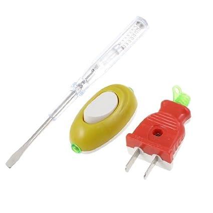 eDealMax 4, 5 mm de boca plana destornillador plano 2 Pin Adaptador ...