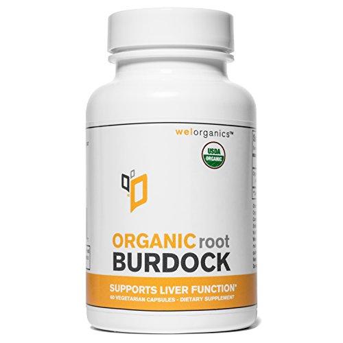 Certified Organic Burdock Vegetarian Capsules