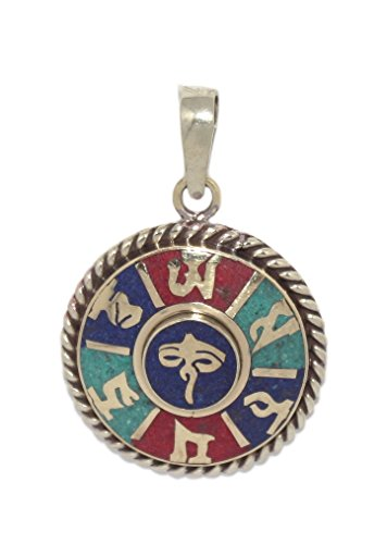 (Coral Pendant Tibetan Pendant Turquoise Pendant Om Pendant Lapis Pendant )