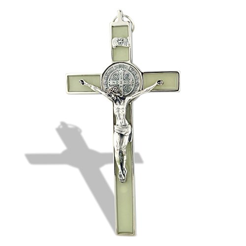 UPC 027829453602, Saint Benedict Wall Crucifix with Colored Enamel (Glow-in-the-Dark)