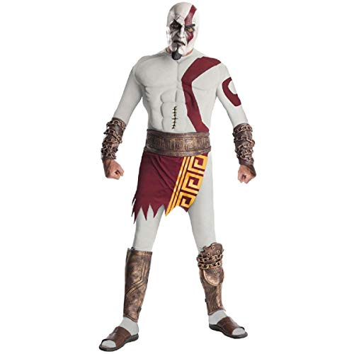 God of War Adult Kratos Muscle Chest Costume with Gauntlets, Multicolored, X-Large ()