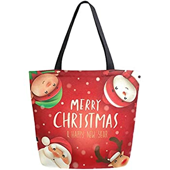 Travel Tote Luggage Weekender Duffle Bag Funny Snowman Snowflakes Large Canvas shoulder bag with Shoe Compartment