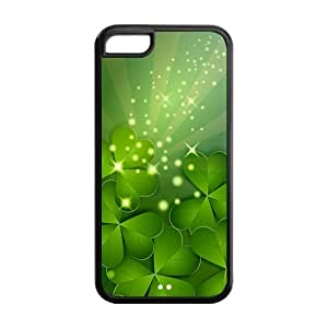 Four Leaf Clover Design TPU protection Case Cover Skin For Iphone 5c