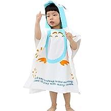 Childrens Cute And Fashion Style Hooded Bath Towel Bathrobes Owl