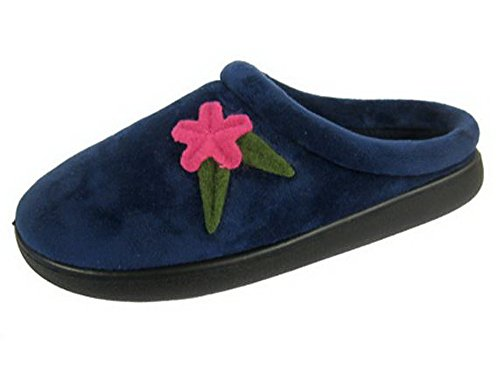 Donna Coolers Coolers Flower Navy Pantofole Pantofole Navy Donna 4qwnOTd