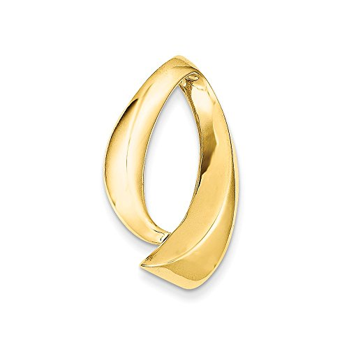 14k Yellow Gold Fits up to 10mm Omega, 8mm Reversible, Omega Slide Pendant