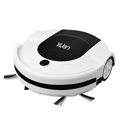 Robotic Cleaner YEJEN 3071-1 with Drop-Sensing Technology, Vacuum and Sweeper for Hard floor and Low-Pile Carpet, HEPA-Style Filter&Mopping Function – Cleaning Robot(Classic Edition)