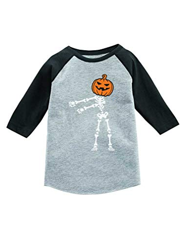 (Floss Dance Pumpkin Halloween Skeleton 3/4 Sleeve Baseball Jersey Toddler Shirt 2T Dark)