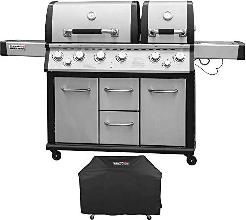 Royal Gourmet MG6001-R-C 6 Cabinet Propane Infrared Burner Gas Grill, Stainless Steel