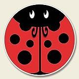Red Ladybug - Absorbent Stone Automotive Car Coaster