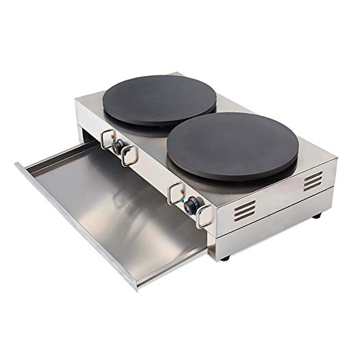 Wotefusi Electric Crepe Machine Griddle Commercial Snack Machine Electric Hot Plate (Double plates) 110V by Wotefusi (Image #4)