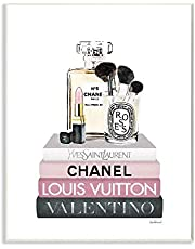 Stupell Industries Fashion Essentials above Glam Designer Books Wall Art, 13 x 19, White