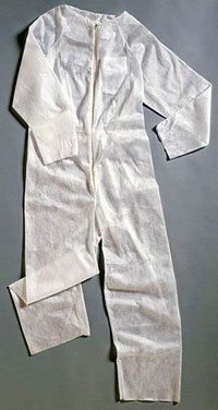 PT# 1820-02 02- Coverall Jump Suit Barrier Fluid Resistant White XL Ea by, Molnlycke Healthcare (Regent)