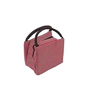 Wultia - Bags for WAMEN Striped Cold Storage Bags Thick Lunch Bag Lunch Bag Bolsa Feminina red