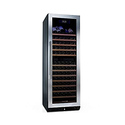 N'FINITY PRO HDX 166 Dual Zone Wine Cellar -Stainless Steel Door