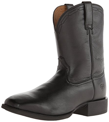 Ariat Men's Heritage Roper Western Cowboy Boot, Black Deer Tan, 8.5 M US ()