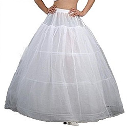 Bride Petticoat Crinoline Slip Wedding Bridal Dress Ball Gown Tier Floor Length (Waist:20-29inch) - Neal Ball