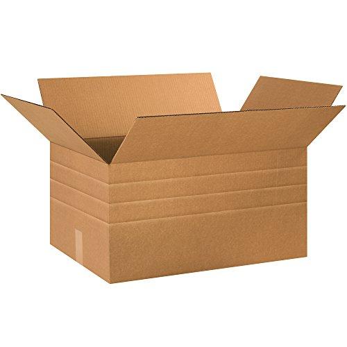 BOX USA BMD241612 Multi-Depth Corrugated Boxes, 24