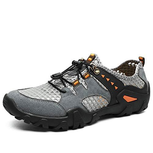 (Giles Jones Men's Hiking Shoes Summer Air Mesh Breathable Waterproof Trekking Trail Shoes)