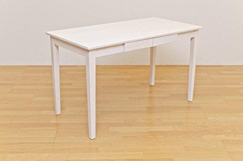リビングダイニングテーブル 食卓を華やかに彩る お洒落 木製テーブル 120×60cm ホワイトウォッシュ B00W74QZ60