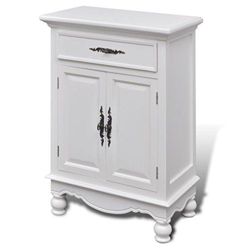 Moon Daughter Pine Wood Floor Cabinet/Cupboard with 2 Doors 1 Drawer Bathroom Kitchen Storage (Doors Pine Cupboard)