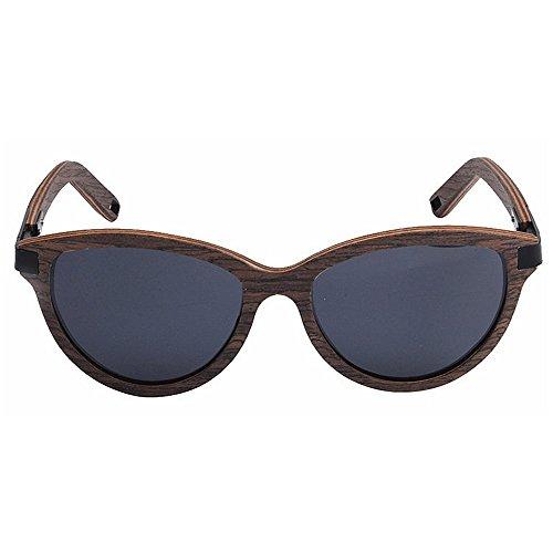 hombres TAC sol Marco los de polarizadas gafas gafas de madera al Ojos Protección UV Lente retro de Playa colores pesca gato sol de conducción mano Gris Gafas de de libre esquí de de de Retro a hechos aire dRCqwRX
