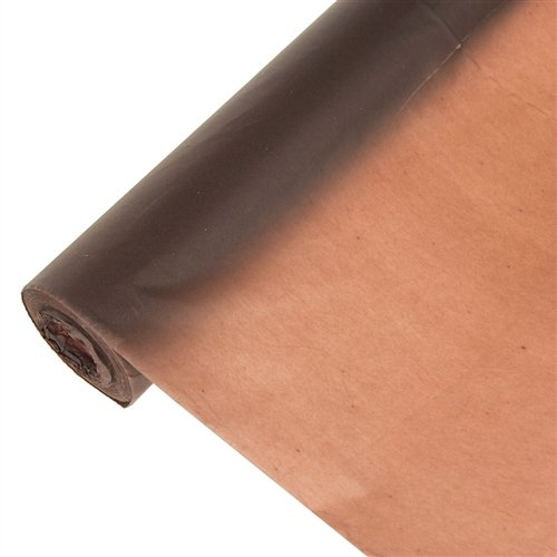 Homeford Firefly Imports Banquet Plastic Table Roll Uncut, 40-Inch x 100 Feet, Brown, 100'