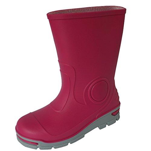 Muflon Kinder Jungen Gummistiefel Mädchen Regenstiefel Regenschuhe Pink