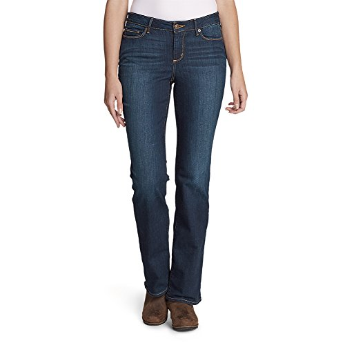 Eddie Bauer Women's StayShape Boot Cut Jeans - Slightly Curvy, Dusk Petite 14 by Eddie Bauer